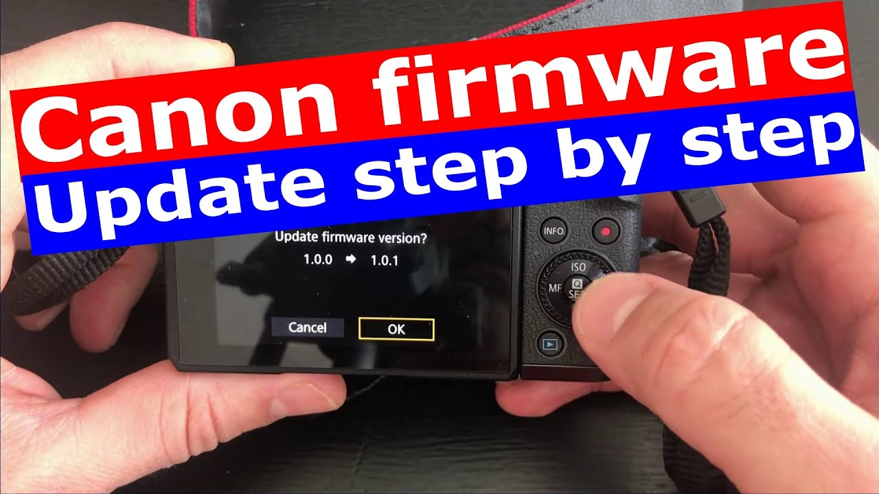 how to update firmware on canon eos m