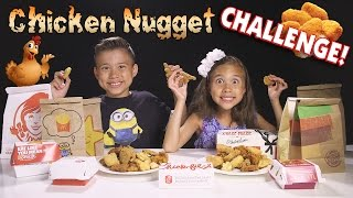 connectYoutube - CHICKEN NUGGET CHALLENGE!!! Fast Food Naming Game!