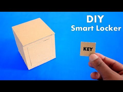 How to Make Cardboard Mini Smart Locker - DIY Cardboard Mini Smart Locker