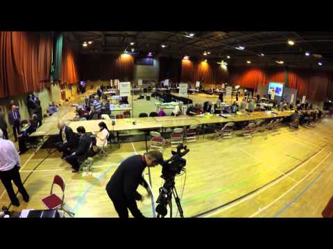 Time lapse of General Election count in Stratford-on-Avon
