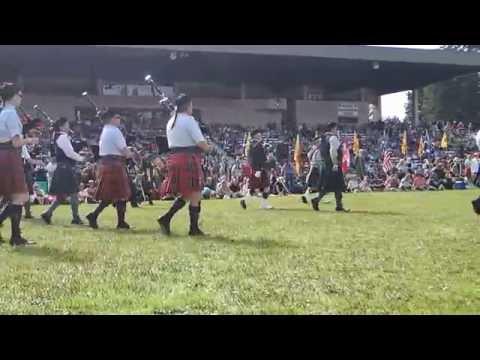 2016 Portland Highland Games Massed Bands