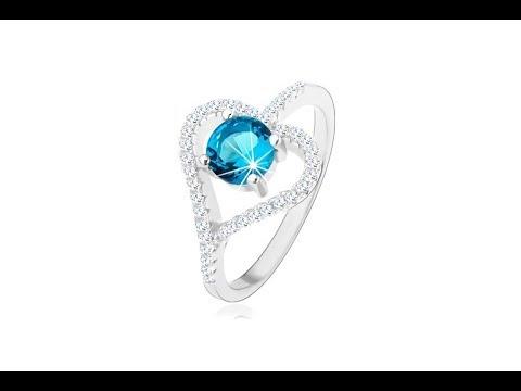 Biżuteria Zaręczynowy Pierścionek Ze Srebra 925 Cyrkoniowy Zarys