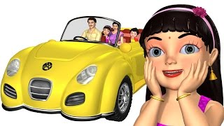 Wheels on the Car   Driving in My Car   3D Baby Songs & Nursery Rhymes for Children