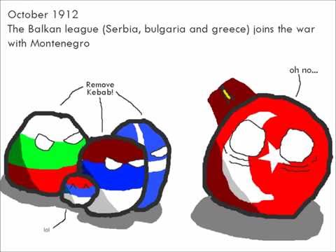 The Balkan wars in Polandball
