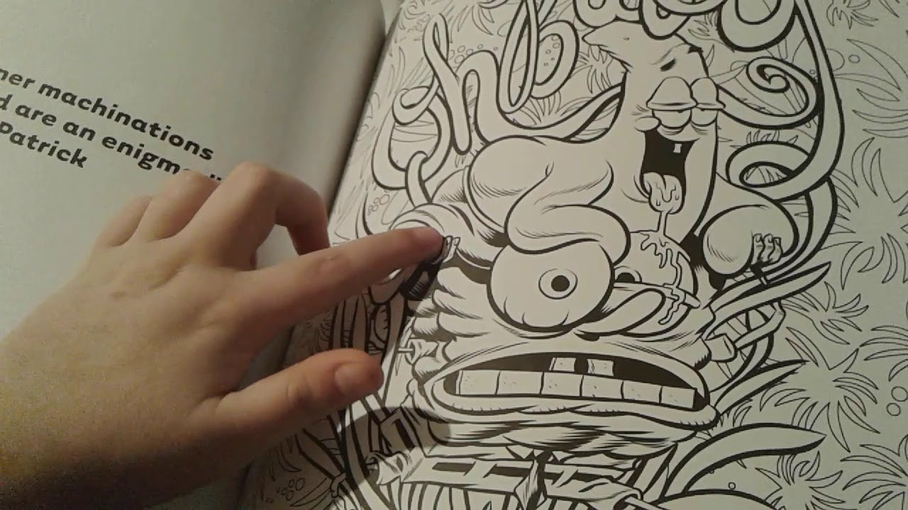 SpongeBob's Very Grown-Up Coloring Book Review - YouTube