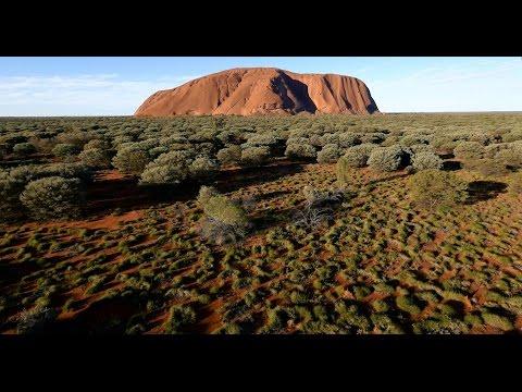 Never before seen bird's-eye view of Uluru
