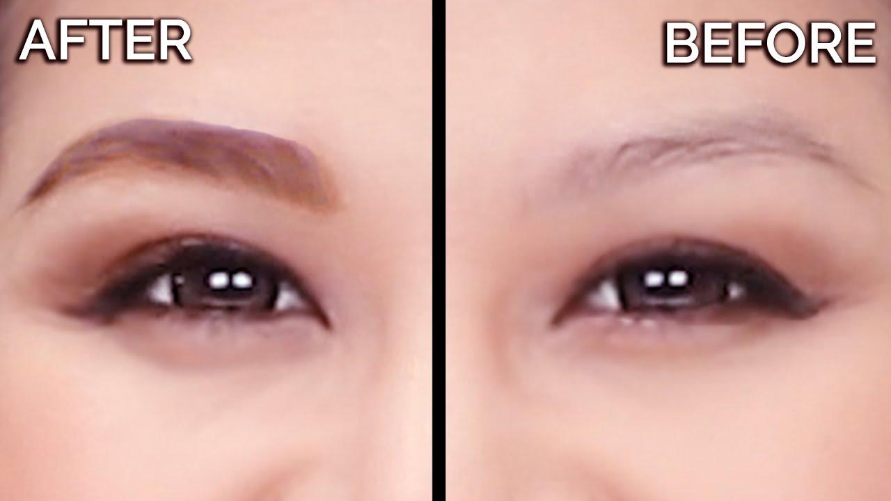Eyebrow Tattoo Tint Tutorial Peel Off Alternative Youtube