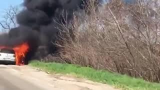 Под Запорожьем за минуты сгорел Volkswagen
