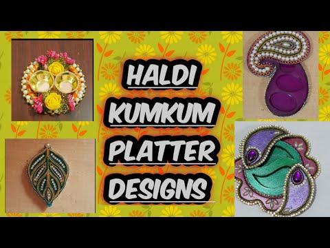Festivals special haldi kumkum box/platter/kunku karanda designs /sankranti special kumkum box