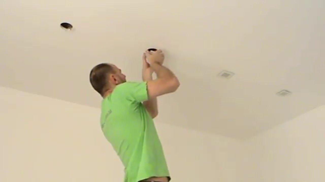 Установка и подключение точечных светильников