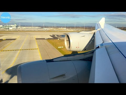 Lufthansa A340-600 Beautiful Engine-View Landing in Munich!