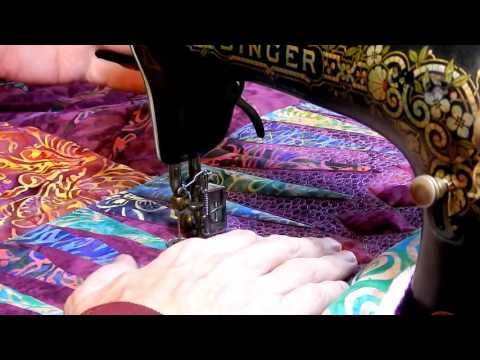 Free Motion Treadle Quilting, Singer 15