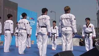 170319 (FULL CUT HD) KTIGERS PERFORMANCE at World Taekwondo Championship D-100