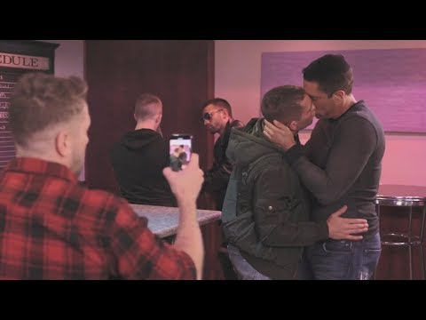 Step Daddy Meets His Stepson In Gay Bar - Hot Gay Kiss Film
