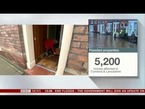 Cumbria Flood Desmond BBC News 7/12/15