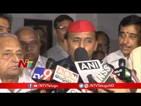 Akhilesh Yadav Speaks with Media after Meet With AP CM Chandrababu Naidu   NTV