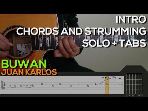Juan Karlos - Buwan Guitar Tutorial [INTRO, SOLO, CHORDS AND STRUMMING + TABS]