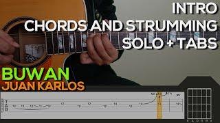Download Juan Karlos - Buwan Guitar Tutorial [INTRO, SOLO, CHORDS AND STRUMMING + TABS] Mp3 and Videos