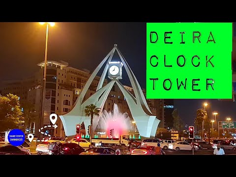 THE ICONIC DEIRA CLOCK TOWER ROUNDABOUT NIGHT TIME IN DUBAI | TRAVEL VLOGS | LIFESTYLE 🇦🇪