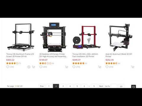 Anet A2 Aluminum Metal 3D DIY Printer - Black EU Plug