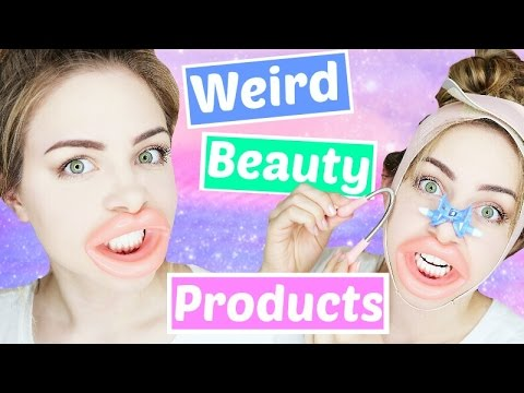 Testing Weird Beauty Products ! | Jazzybum