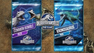 Kronosaurus Pack and Common Rumble Pack - Jurassic World The Game