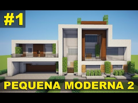 Minecraft tutorial 2 pequena casa moderna parte 1 for Casas modernas no minecraft