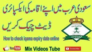 Check Iqama Expiry Date Online In Saudi Arabia Urdu And Hindi Urdu Video