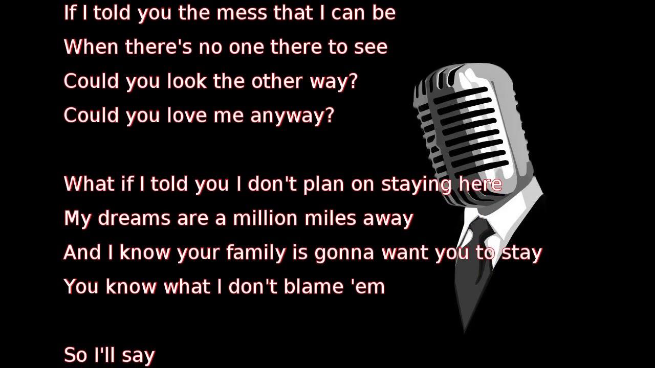 Would you love me anyway lyrics darius rucker