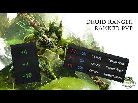 Guild Wars 2 - Ranked PvP - BACK TO GOLD - BEST BUNKER TEAM - Bunker Druid + Meditrapper