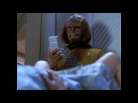 Star Trek TNG and Deep Space Nine - Keiko is Pregnant - Worf Reaction