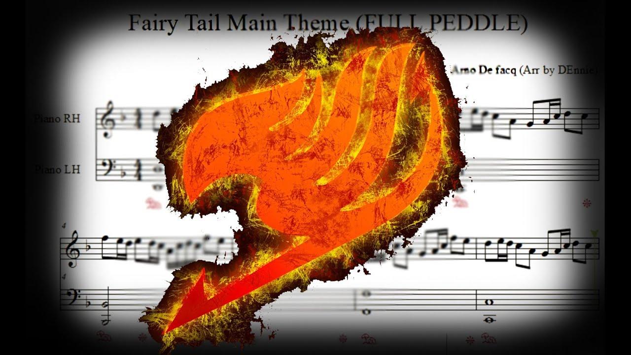Google themes fairy tail - Fairy Tail Main Theme Full Pedal Version Sheet Music Midi Tutorial