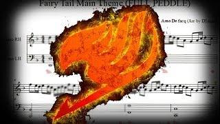 Fairy Tail: Main theme FULL pedal version sheet music (+MIDI) tutorial