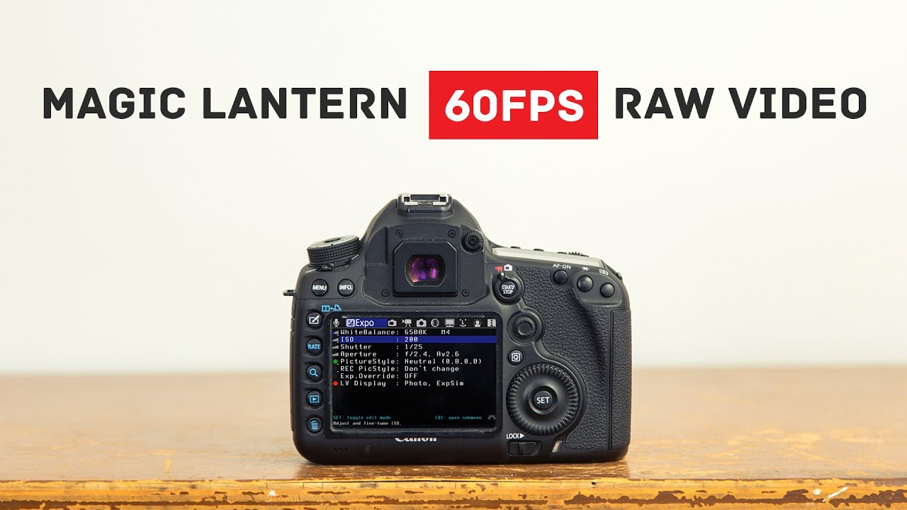 Magic Lantern RAW 60fps Slow Motion Tutorial