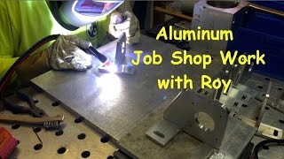 Aluminum Welding Job Shop Work with Roy(see a full detailed article here https://goo.gl/DKlhnn and visit the online store here https://goo.gl/XrEiHu This is a collaboration video with my friend Roy