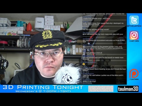 3D Printing Tonight #035 w/#CaptainBAWLS -  Legal issues updates!