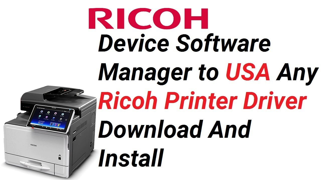 DSM to Any Ricoh Printer Driver Download And Install (only USA printer  supported) || Teach World ||