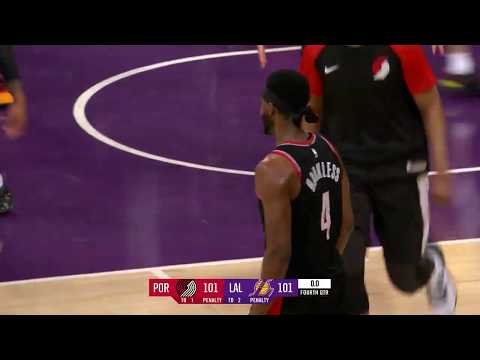 Portland Trail Blazers - Hollywood Harkless Takes Out The Lakers
