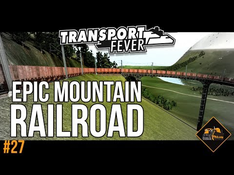 Build an epic mountain railroad | Transport Fever Gotthard Line The Alps gameplay #27