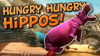 HIPPO vs DINOSAUR RAMPAGE! Beast Battle Simulator - New TABS or UEBS style game