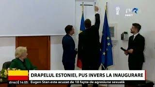 Drapelul Estoniei, pus invers la inaugurarea Consulatului Onorific al Estoniei din Constanța thumbnail
