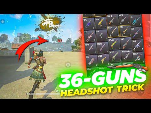 ALL GUN HEADSHOT TRICK FREE FIRE ||ONE TAP HEADSHOT SETTING⚙️