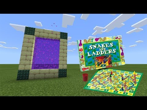 PORTAL To The SNAKES And LADDERS Dimension | Minecraft Bedrock ( MCPE , Windows 10 )