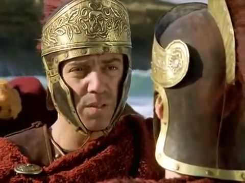 Download Marc Antony, defeated at Actium (31 BC), meets the pursuing Octavian