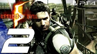 Resident Evil 5 (PS4) - Gameplay Walkthrough Part 2 - Chainsaw Boss & Mines [1080P 60FPS]