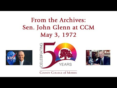 John Glenn at County College of Morris, NJ, May 3, 1972