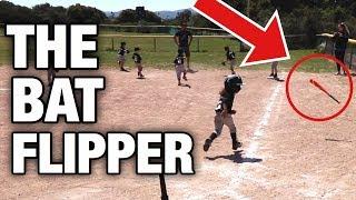 THIS KID IS THE ULTIMATE BAT FLIPPER | LITTLE LEAGUE BASEBALL BAT FLIPS