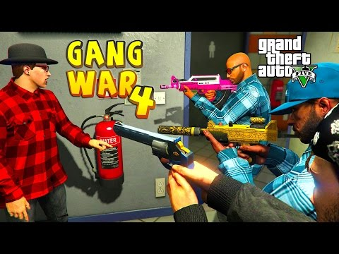 Grand Theft Auto V - GANG WAR PART 4 BLOODS VS CRIPS THE CHASE [HD]