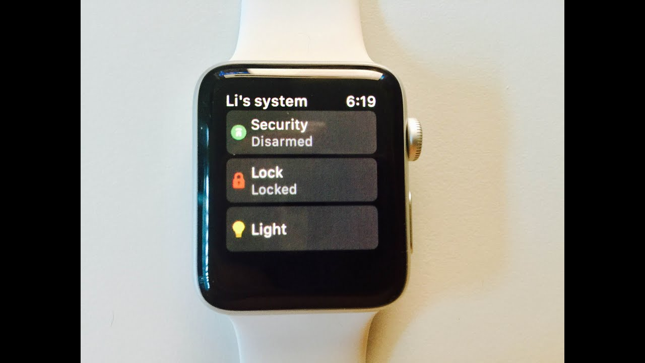 Frontpoint Security Apple Watch App Review On Apple Watch