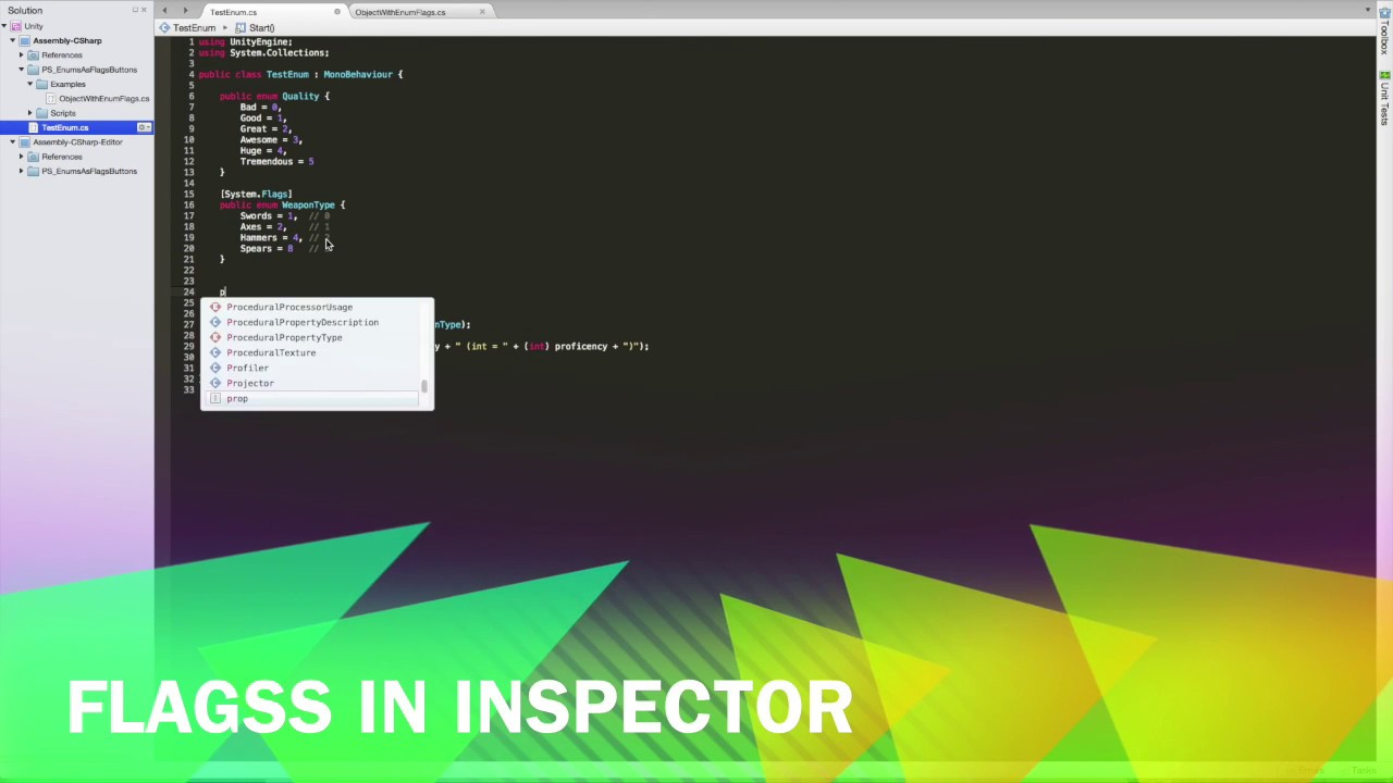 Unity 3D - Enum Flags in Inspector